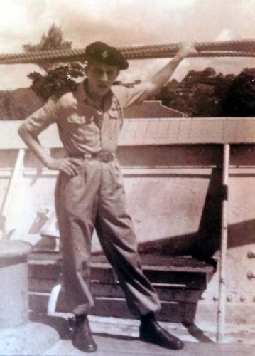 1953 dépar Corée sur La Marseillaise.JPG
